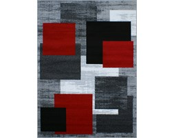 Dywan Super/Lux Verso Czerwone Kwadraty
