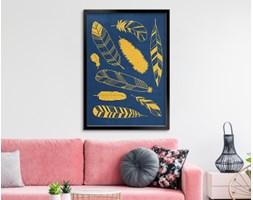 Obraz w ramie - Ptasie żółte piórka - 50 x 70 cm