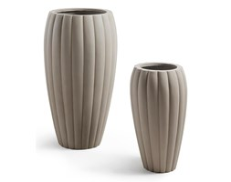 LODYN Set 2 planters cement light grey