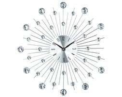 Zegar na ścianę o niespotykanym kształcie, elegancka dekoracja z kryształkami na ścianę