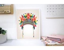 MeowBaby® Plakat do Pokoju Dziecka - Pióropusz