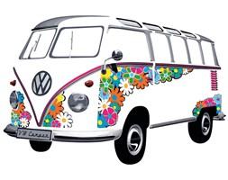 VW Naklejka ścienna BUS FLOWER POWER  - DECOSALON - 100% zadowolonych klientów!