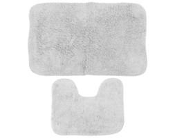 Komplet dwóch dywaników łazienkowych, dywaniki do łazienki - kolor biały