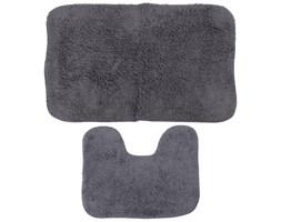 Komplet dwóch dywaników łazienkowych, dywaniki do łazienki - kolor szary