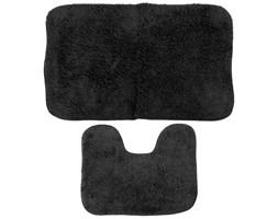 Komplet dwóch dywaników łazienkowych, dywaniki do łazienki - kolor czarny