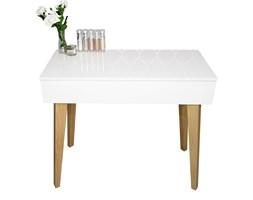 """Toaletka """"Voga"""" biała w skandynawskim stylu, drewniane nóżki"""