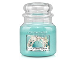 Country Candle - Baby It's Cold Outside - Średni słoik (453g) 2 knoty
