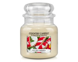Country Candle - Sugar Cookies - Średni słoik (453g) 2 knoty