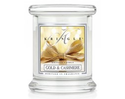 Kringle Candle - Gold & Cashmere - mini, klasyczny słoik (128g)