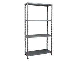 Bayersystem Regał metalowy Mikro NC1 40 kg 150x75x30 cm 4 półki