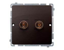 Gniazdo głośnikowe pojedyncze 6mm2 Czekoladowy Simon Basic - BMGL2.02/47