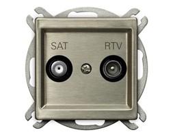 Gniazdo antenowe RTV-SAT końcowe Sonata Nowe Srebro - GPA-RMS/m/44