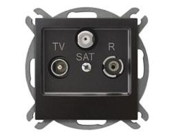 Gniazdo antenowe RTV-SAT końcowe Antracyt - GPA-YS/m/50 Impresja