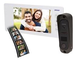 """Zestaw wideodomofonowy bezsłuchawkowy, kolor 7"""" pin hole, pamięć, biały, ARCUS MEMO Orno - OR-VID-JS-1040/W"""