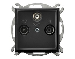 Gniazdo RTV-SAT końcowe Czarny metalik Ospel Aria - GPA-US/m/33