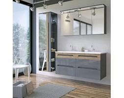 Szare meble łazienkowe z podwójną umywalką 120 cm