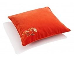 Poduszki Dekoracyjne Kolor Pomarańczowy Z Aksamitu