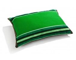 Poduszka zielona pasiak łowicki, prostokątna 60x40cm