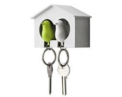 QUALY Sparrow wieszak na klucze, kolor biało-zielony