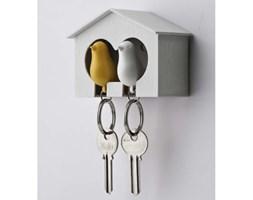 QUALY Sparrow wieszak na klucze, kolor biało-żółty QL10124-WH-WH-YW
