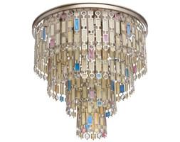 Marokańska lampa sufitowa na 10 żarówek, satynowe witraże MW-LIGHT Loft