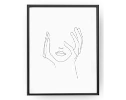 Plakat Ręce Na Twarzy