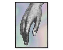 Plakat Srebrna Dłoń Holograficzny