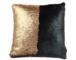 Poduszka z cekinami, czarno-złote