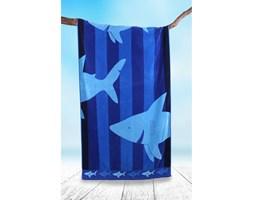 DecoKing - Ręcznik Plażowy Bawełniany Niebieski SHARKY W REKINY