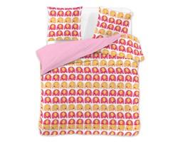 DecoKing – Pościel Mikrofibra Różowo Pomarańczowa CUTE ELEPHANTS WZORY DZIECIĘCE