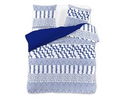 b42234774879a3 DecoKing – Pościel Mikrofibra Biało Niebieska GREEK FUSION MOTYWY  GEOMETRYCZNE