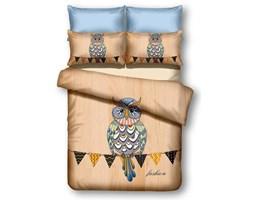 DecoKing – Pościel Mikrofibra Cappuccino Owls AUTUMNSTORY WZORY DZIECIĘCE