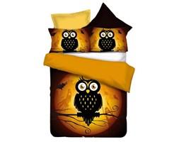 DecoKing – Pościel Mikrofibra Czarno Pomarańczowa Owls GHOST STORY WZORY DZIECIĘCE