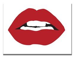 Czerwone usta plakat do wnętrza mieszkania 0721 - Buy Design