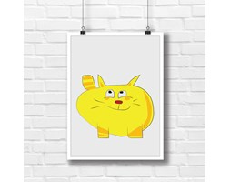 Kot PUF grafika do dziecięcego pokoju 7737 - Buy Design