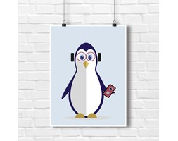 Pingwinek Muzyk Design do dziecięcego pokoiku 9081 - Buy Design