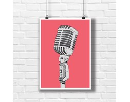 Pop art plakat mikrofon 0927 - Buy Design
