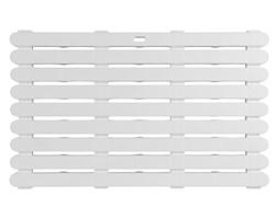 Podkładka antypoślizgowa do łazienki, prostokątna mata do wanny lub brodzika - 50 x 80 cm, kolor biały, WENKO
