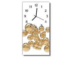 Zegar Szklany Pionowy Bąbelki kule  biały