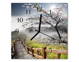 Zegar szklany kwadratowy Wiosna