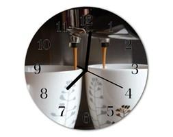 Zegar szklany okrągły Ekspres do kawy