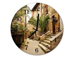 Zegar ścienny okrągły Aleja palmy