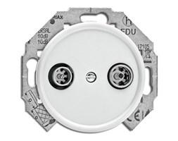Gniazdo antenowe RTV THPG duroplast biały