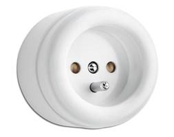 Gniazdo natynkowe z/u THPG duroplast biały
