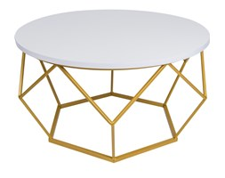 Stolik kawowy Diament - złoto biały