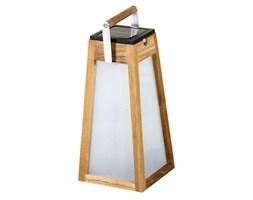 TINKA TECKA-Latarnia zewnętrzna LED akumulatorowa & solarna Drewno Wys.39cm