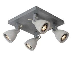 CONCRI-LED-Plafon 4 reflektorki Nastawne Beton & Metal 30x30cm