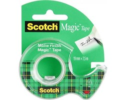Taśma klejąca 3M Scotch Magic 7100093940, niewidoczna na papierze, na podajniku, 19mm x 7,5m