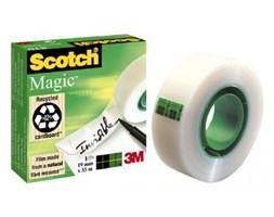 Taśma klejąca 3M Scotch Magic 7100027115,  niewidoczna na  papierze, w pudełku, 19mm x 33m