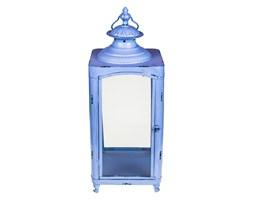 Metalowy lampion błękitny 60 cm